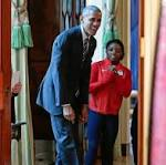 President Obama can't touch his toes, worries about 'Phelps-face'