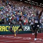 Justin Gatlin sprints onto another Olympic team with world-best time