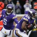 Latest from the NFL: Vikings RB Peterson limps off field