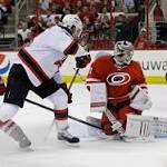 Hurricanes fall to Devils, damaging playoff hopes
