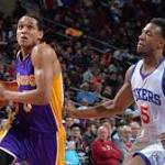 Lakers outlast Sixers in OT, but endanger chances at draft pick