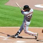 NL roundup: Giants hand Braves sixth straight setback