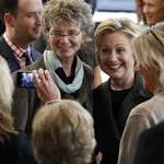 Clinton touts small business in Cedar Falls, Independence stops