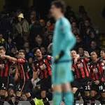 Bournemouth's Glenn Murray heads home to pile more misery on Chelsea