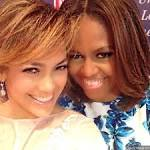 Jennifer Lopez Takes 'Me and My Girl' Selfie With First Lady Michelle Obama