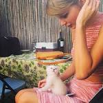 Taylor Swift gets a new kitten. What's its name?