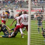 Last Gasp Cahill Goal Gives First Place Red Bulls 1-0 Win Over LA Galaxy