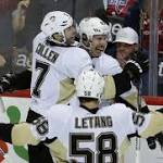 Penguins beat Capitals in overtime for 8th consecutive win (Apr 7, 2016)