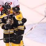 East-leading Bruins blow by Hurricanes, extending win streak to 8