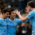 Hull 0 - Manchester City 2: Silva saves day as Kompany sees red