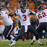 Rookie QB climbs Texans depth chart