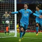 Arsenal vs. Barcelona 2016: VIDEO Highlights, Live Score Updates From Champions League Round Of 16 First Leg