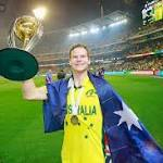 Brad Hogg bats for Steven Smith as Australia skipper