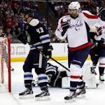 Ovechkin, Capitals hold off Blue Jackets