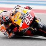 World champ Marquez takes pole in Texas