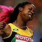 A pink blur: Jamaica's Shelly-Ann Fraser-Pryce wins 100 meters; David Oliver ...