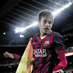 Neymar nets pair as Barca pads lead