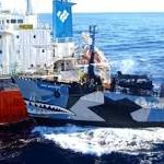 Sea Shepherd in Southern Ocean collision with Japanese whaling ship