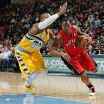 Short-handed Nuggets fall to Raptors
