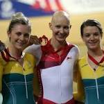 Rowsell wins track pursuit, England leads in golds