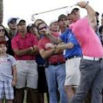 McIlroy keeps his cool despite problems on hole eight