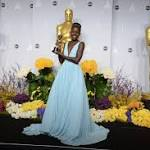 Lupita Nyong'o's ice blue or JLaw's bright red?