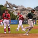 Donaldson makes 3 errors in A's 4-1 loss to Angels
