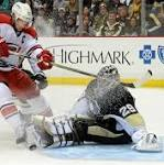 Fleury makes 22 saves, leads Penguins to 5-0 shutout against Carolina Hurricanes