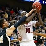No. 5 Arkansas survives test from No. 12 Wofford, to face UNC