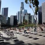 Desks Used in Protest to Demand Fair Funding in LAUSD