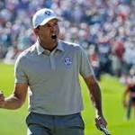 Europe pulls within one of US at Ryder Cup