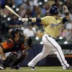 Caleb Gindl's first major-league homer gives Brewers a walk-off win over Marlins