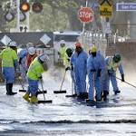 LA oil spill: 10000 gallons in Atwater could take 24 hours to clean