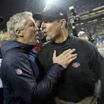 Where's the hate? Harbaugh's, 49ers' standings cool rivalry with Seahawks