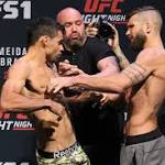 UFC Fight Night 88 weigh-in results: Almeida (136), Garbrandt (135.5) official; Stephens shoves Barao