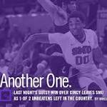 Another One. // Last Night's Gutsy Win Over Cincy Leaves SMU As 1 of 2 ...