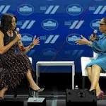 First lady Michelle Obama and Oprah Winfrey talk about life after White House