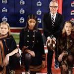 NY Fashion Week: Football on a frigid day at Hilfiger