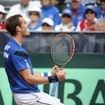 Murray beats Querrey; Brits top US in Davis Cup
