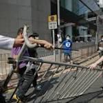 Barricades removed at HK protest site