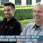 Robin Barton Reunites with Cop Who Rescued Him from a Dumpster as a Baby ...