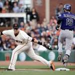 Giants lose to Rockies behind Jake Peavy