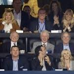Bill Clinton, George W. Bush watch NCAA championship game together