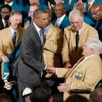 NFL's only perfect team has its White House moment