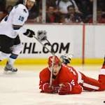 Detroit Red Wings sink against the San Jose Sharks