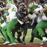 Ground game carries Washington State over Oregon 51-33