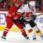 Hurricanes lose 2-0 to Calgary Flames