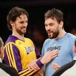 Gasol brothers get ball rolling in NBA All-Star Game