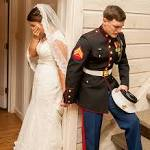 Marine's Wedding Prayer Photo Goes Viral: See Caleb, Maggie Earwood's ...
