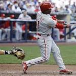 Phillies batter Brewers to finish off sweep
